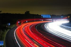 When driving faster, look further ahead